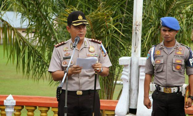Gelar Pasukan Ops Simpatik Siwalima 2015 Polres Maluku Tengah