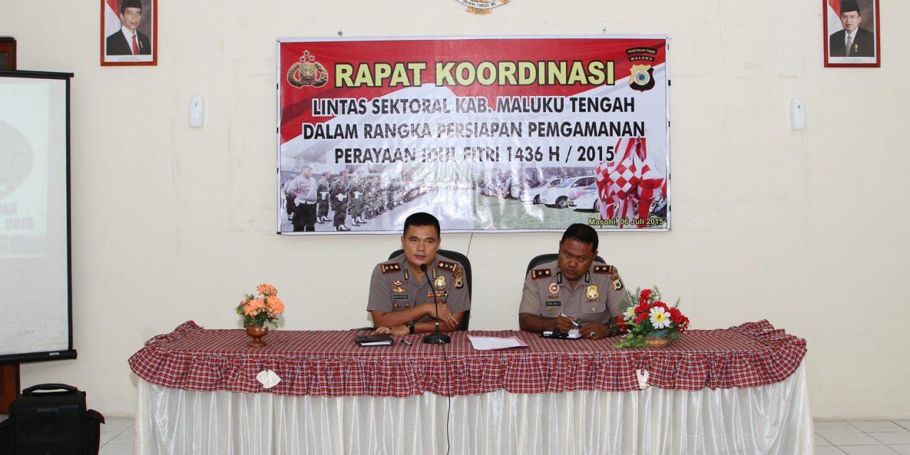 Rakor Lintäs Sektoral Polres Maluku Tengah