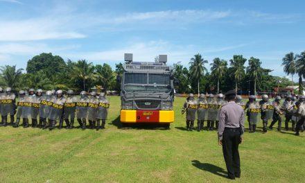 Latihan Dalmas Polres Maluku Tengah