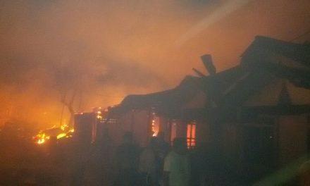 Kebakaran Pasar Roupessy Desa Wahai Kecamatan Seram Utara