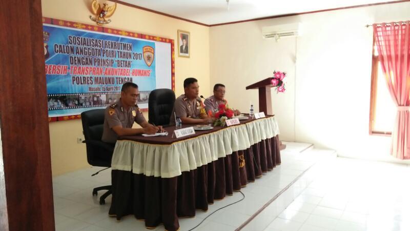 """""""BETAH"""" Bersih-Transparansi-Akuntabel dan Humanis Polres Maluku Tengah"""
