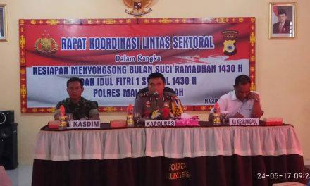 Polres Maluku Tengah melaksanakan Rakor Linsek dalam rangka Kesiapan Menyongsong Bulan Suci Ramadhan 1438 H dan Idul Fitri 1 Syawal 1438 H Tahun 2017