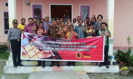 Team  Saber Pungli Sosialisasi di Negeri Yafila