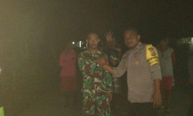 Sinergitas TNI-Polri, di Kecamatan Telutih