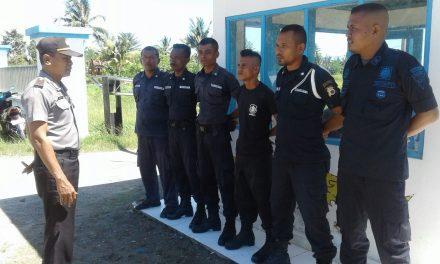 Kanit Binmas Polsek Seram Utara Silahturahmi ke Pos Pengamanan Security