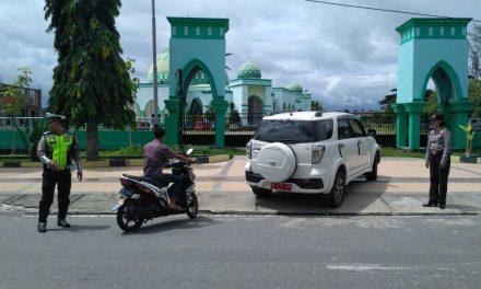 Ciptakan Rasa Aman, Polres Maluku Tengah Lakukan Pengamanan Sholat Jumat