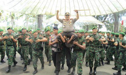 TNI POLRI SOLID,KAPOLDA MALUKU BERKUNJUNG KE BATALION YONIF 731 KABARESI