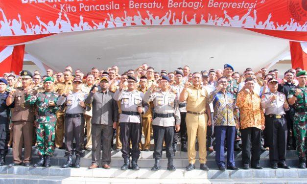 Wakapolda Maluku Pimpin Apel Kebhinekaan  di Kabupaten Maluku Tengah