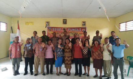 Sosialisasi Satgas Saber Pungli di Aula Kantor Camat TNS Waipia Kab. Maluku Tengah