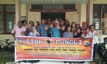 Sosialisasi Tim Satgas Saber Pungli Kabupaten Maluku Tengah di Kantor Dinas Sosial Kabupaten Maluku Tengah