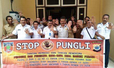 Sosialisasi Tim Satgas Saber Pungli Kabupaten Maluku Tengag di Kantor Dinas Perhubungan