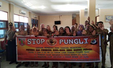 Sosialisasi Tim Satgas Saber Pungli Kabupaten Maluku Tengah di Kantor Dinas Badan Pendapatan Daerah