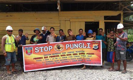 Sosialisasi Saber Pungli, Bhabinkamtibmas Negeri Lafa di Perusahan Bati Pica Negeri Lafa