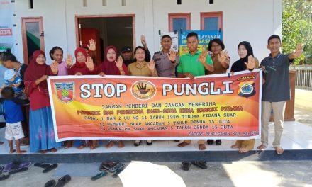 Sosialisasi Saber Pungli, Ps Kanit Binmas Polsek Amahai di Kantor Negeri Administratif Yainuelo