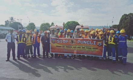 Sosialiasasi Tim Satgas Saber Pungli Kabupaten Maluku Tengah di Depot Pertamina(TBBM) Masohi