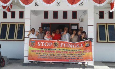 Sosialisasi Saber Pungli, Bhabinkamtibmas Negeri Soahoku d Kantor Negeri Soahoku