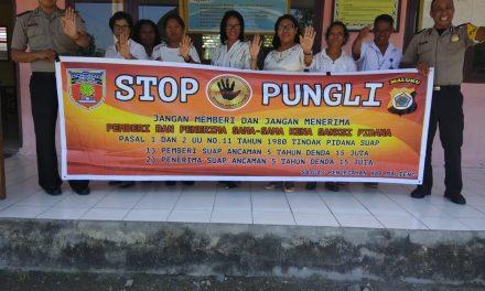 Sosialisasi Saber Pungli, Personil Polsek TNS/Waipia di Sekolah SD  Inpres Rumday Kecamatan TNS/Waipia