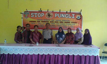 Sosialisasi Saber Pungli, Kanit Binmas Seram Utara di Sekolah SMP Negeri I Seram Utara Timur Kobi