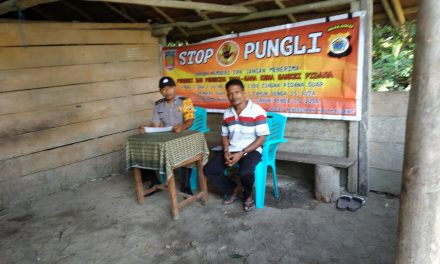 Sosialisasi Saber Pungli, Bhabinkamtibmas Desa Air Besar kepada Masyarakat Desa Air Besar Kecamatan Seram Utara