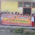 Sosialisasi Saber Pungli, Bhabinkamtibmas Desa ADM Malaku di Sekolah SD Negeri Desa ADM Malaku Kecamatan Seram Utara