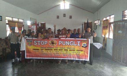 Sosialisasi Saber Pungli, Personil Polsek TNS/Waipia di Negeri Kuralele Kecamatan TNS/Waipia