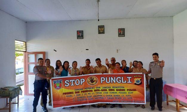 Sosialisasi Saber Pungli, Personil Polsek TNS/Waipia di SD Negeri Trana Kecamatan TNS/Waipia