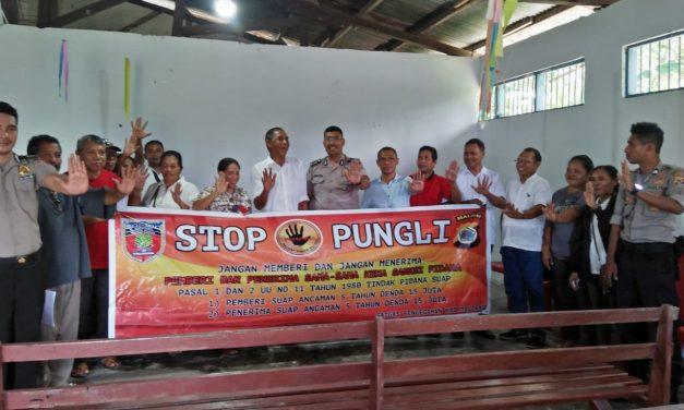 Sosialisasi Saber Pungli, di Kantor Negeri Waru Kecamatan TNS/Waipia