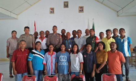 Sosialisasi Saber Pungli, di Kantor Negeri Lesluru Kecamatan TNS/Waipia