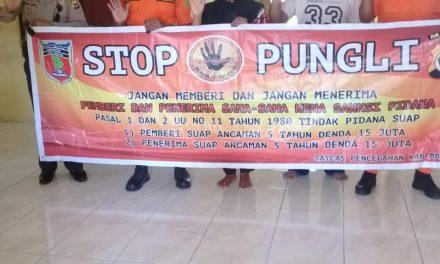 Sosialisasi Saber Pungli, Kanit Binmas Polsek P.P Banda Neira di Kantor SAR Banda Neira