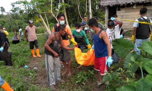 Sesosok Mayat ditemukan di walang Rumah Kebun tepi kali Wailosa di Negeri Latea Kecamatan Seram Utara Barat