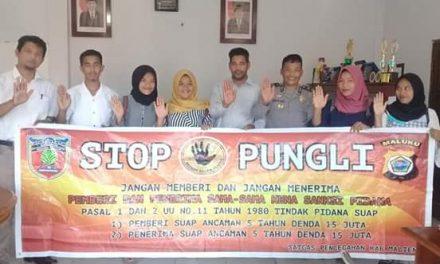 Sosialisasi Saber Pungli, Kanit Binmas Polsek P.P Banda Neira di Kampus STKIP Hatta-Sjahrir Banda Neira