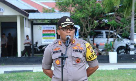 Apel Pergeseran Pasukan Pengamanan TPS Dipimpin Kapolres Maluku Tengah