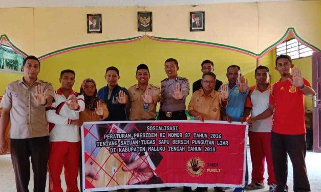 Tim Pencegahan Saber Pungli Kabupaten Maluku Tengah Sosialisasi, di Sekolah MTs Negeri 3 Maluku Tengah di Wahai Kecamatan Seram Utara
